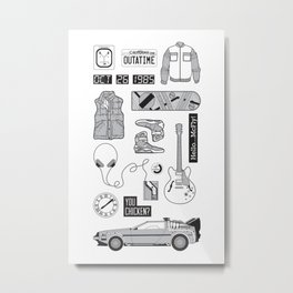 McFly Icons - Back to the Future Metal Print