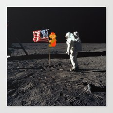 Super Mario on the Moon Canvas Print
