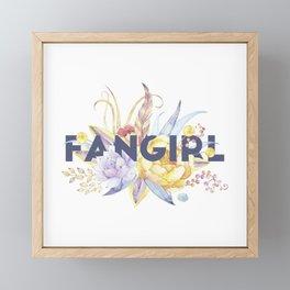 Floral FANGIRL Framed Mini Art Print