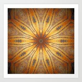 Bright Antique Gold Mandala Art Print