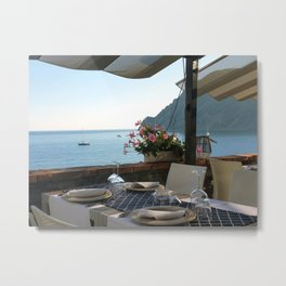 Dinner on the Italian Riviera Metal Print