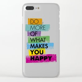 Do More Phrase Clear iPhone Case