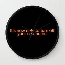90's Safety Wall Clock