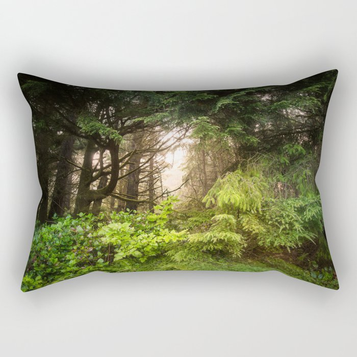 The Light Within - Beauty in the Washington Rain Forest Rectangular Pillow