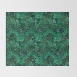malachite Throw Blanket