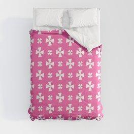 Greek Cross 7- pink Comforters