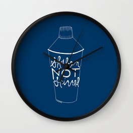 shaken in navy Wall Clock