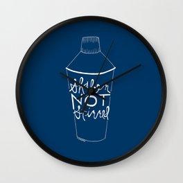 shaken in navy Wall Clock