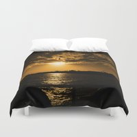 istanbul Duvet Covers featuring İstanbul Sunset  by kartalpaf