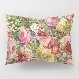 Vintage Retro flower pattern old fashioned Pillow Sham