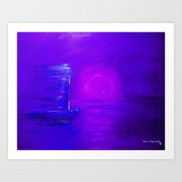 Purple Sail Art Print