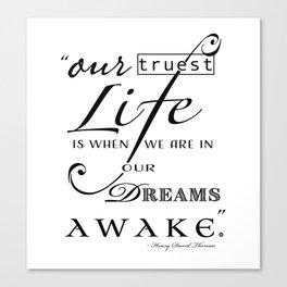 Typography Quote Art Print Canvas Print