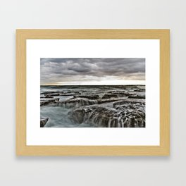Stormy sea's Framed Art Print