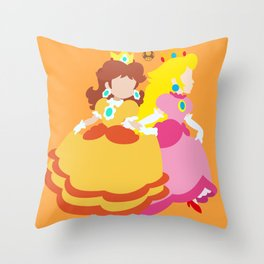 Princess Daisy & Princess Peach (Sarasaland Theme) Throw Pillow