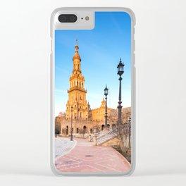 Plaza de España, Sevilla, Spain 4 Clear iPhone Case