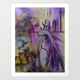 Toxic Angel Art Print