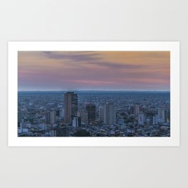 Guayaquil Aerial Cityscape View Sunset Scene Art Print