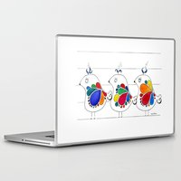 folk Laptop & iPad Skins featuring folk by Gosia&Helena