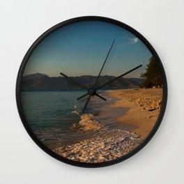 Sunrise at Gili Meno Wall Clock