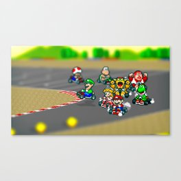Mario Circuit Canvas Print