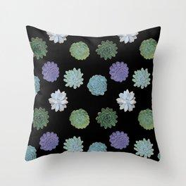 Succulent plant pattern Throw Pillow