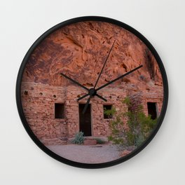 CCC Cabins-1, Valley of Fire State Park, Nevada Wall Clock