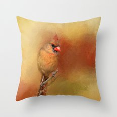 Backyard Jewel Throw Pillow