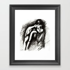 Sensual Embrace Framed Art Print