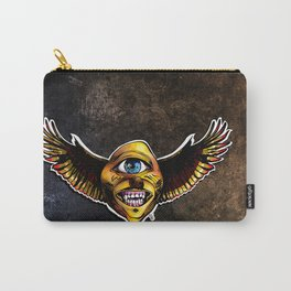 Happy Cycloptic Dog Eagle with a Stache (scratch back) Carry-All Pouch