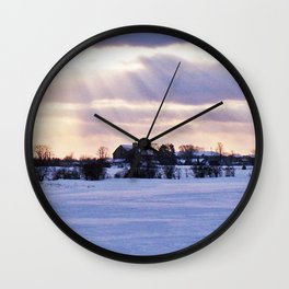 Sun Rays on the Farm Wall Clock
