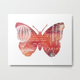 A Butterfly In Paris Metal Print