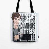 enerjax Tote Bags featuring CumbersBumbersWumbers by enerjax