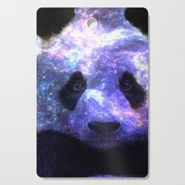 Galaxy Panda Space Colorful Cutting Board