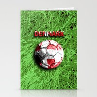 denmark Stationery Cards featuring Old football (Denmark) by seb mcnulty