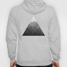 Black and White Mist Ombre Hoody