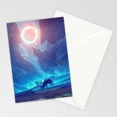 Stellar collision Stationery Cards