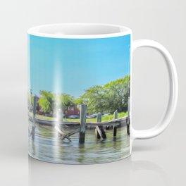 An Old Dock in the Historic Harbor Coffee Mug