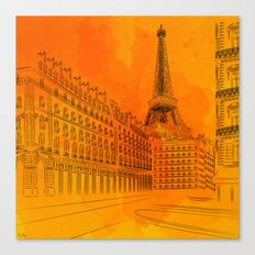 Parisian Sunsets Canvas Print