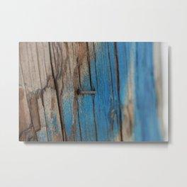Staple in Blue Metal Print