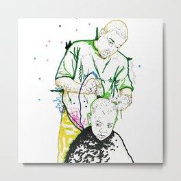 Daddy Do: Barber Shop Artwork Metal Print