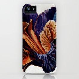 Black Iris iPhone Case