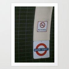 No Smoking Underground. Art Print