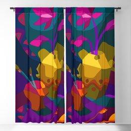 Art color Lotus flower Blackout Curtain