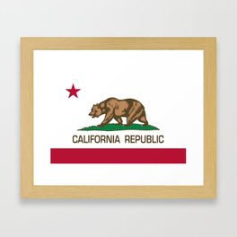 California flag, High Quality Authentic Framed Art Print
