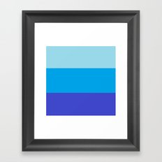 Blue Colorblock Framed Art Print
