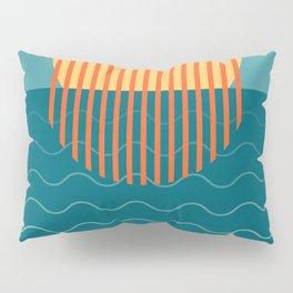 Minimalist Sunset Over Ocean, Travel Print, Sun Set Poster, Large Printable Photography, Wall Art Pillow Sham
