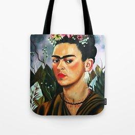 Frida Kahlo Flowers Tote Bag