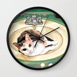 Catrina in the Sink Wall Clock