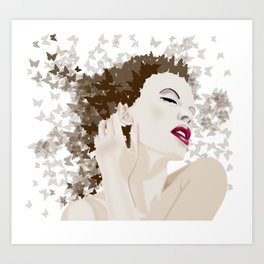 kylie and the butterlies  Art Print