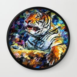 Roaring Tiger Wall Clock